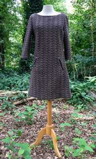 bruine jurk